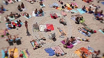 西班牙加利西亚La Coruna的Playa del Matadero海滩 股票录像