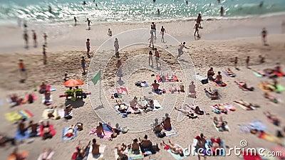 西班牙加利西亚La Coruna的Playa del Matadero海滩 影视素材