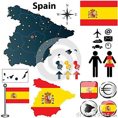 西班牙的地图
