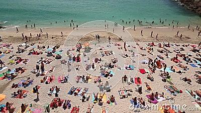 西班牙科鲁纳岛La Coruna Playa del Matadero海滩 股票录像