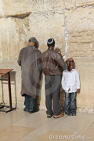 西部以色列耶路撒冷的墙壁 编辑类库存图片
