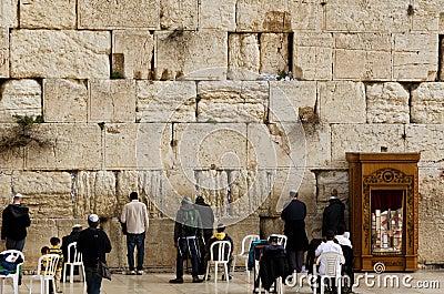 西部耶路撒冷的墙壁 编辑类照片