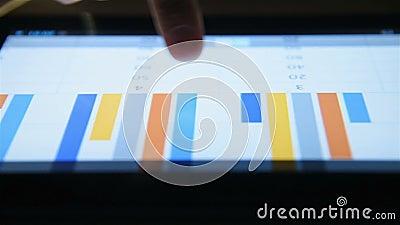 触摸屏平板电脑上手检财务报告 股票视频