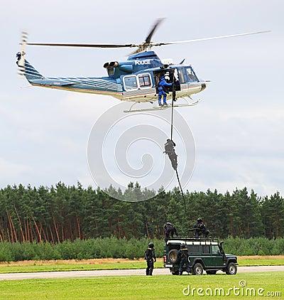 警察小队 图库摄影片