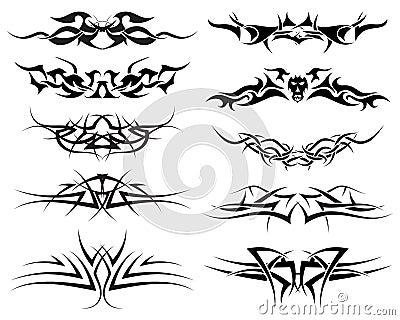 设置纹身花刺部族向量