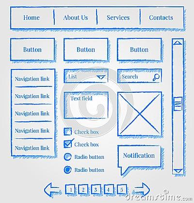 设计工具箱草图样式网站图片