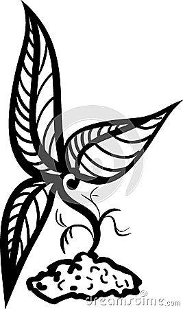 设计贪污小的纹身花刺