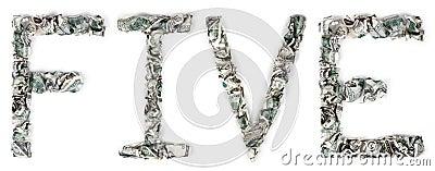 五-起皱的100$票据