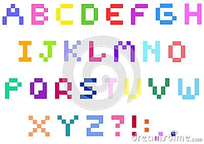 象素字母表