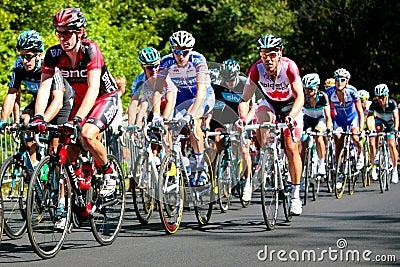 赛跑与BMC导致的Peloton 图库摄影片
