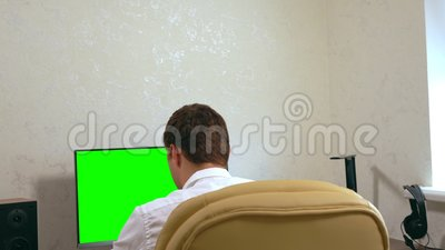 走动在商人工作后 股票录像