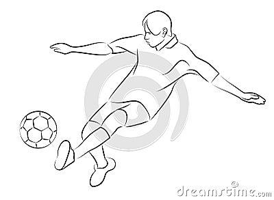 在漫画隔绝了作文简化的剪影运动员.足球幅一白色的v漫画图片
