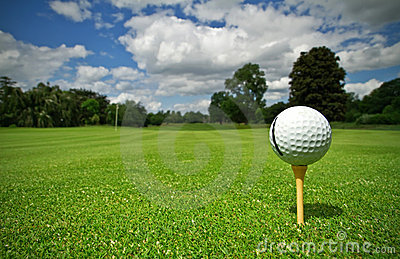 路线高尔夫球