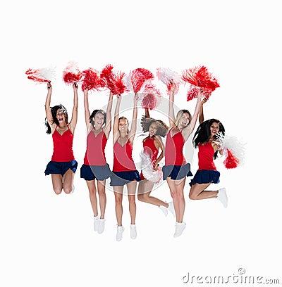 跳性感的六小队的航空啦啦队员