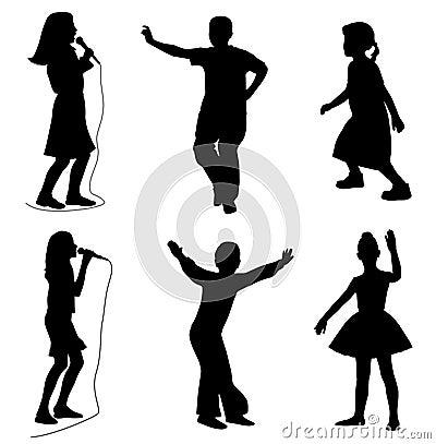 跳舞孩子唱歌