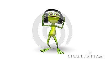 跳舞青蛙 库存例证