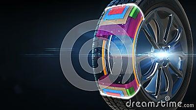 轮胎施工方案背景概念 股票视频