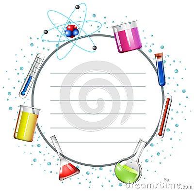 与科学设备例证的边界设计.图片