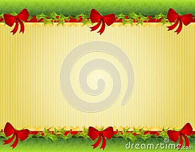 边界鞠躬圣诞节霍莉红色