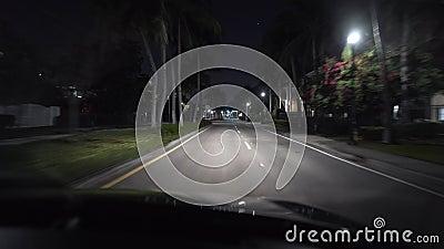 迈阿密夜市街灯火通明 股票录像