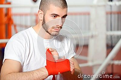 运动员束缚拳击绷带图片
