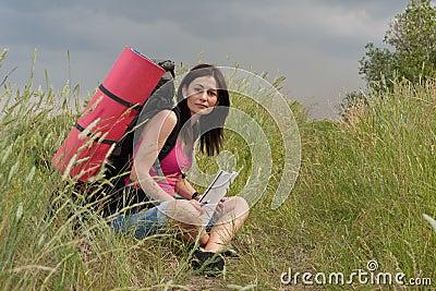远足者妇女