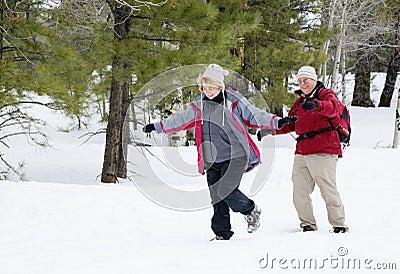 退休的有效的夫妇