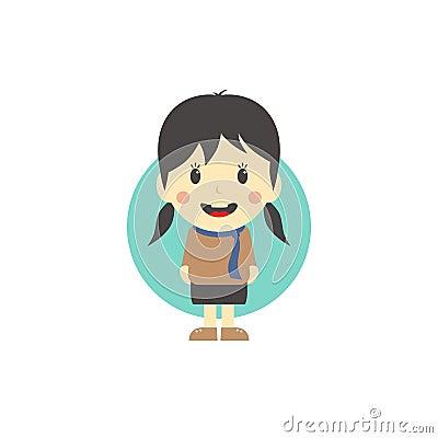 逗人喜爱的女孩漫画人物图片