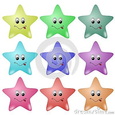 逗人喜爱的星形