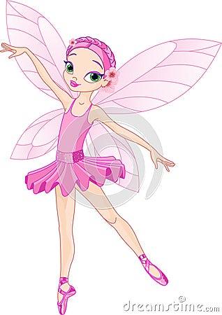 逗人喜爱的神仙的粉红色