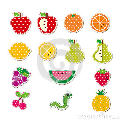 逗人喜爱的被缝的果子