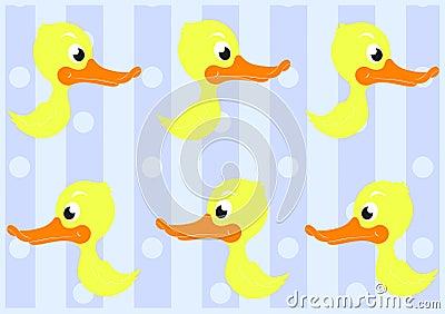 逗人喜爱的鸭子无缝的模式