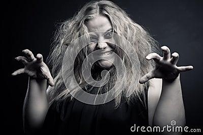 巫婆巫师巫术幻想恐怖愤怒新白种人粗野美女自治权