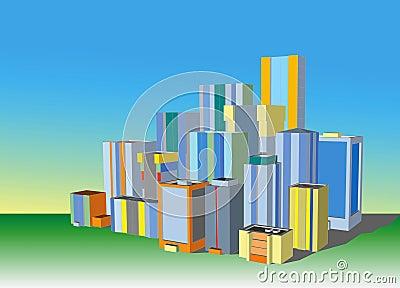 都市风景例证
