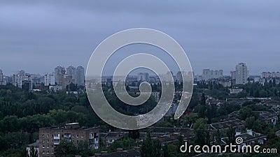 都市风景Timelapse从夜到天 影视素材