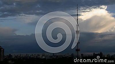 都市风景Timelapse从天到夜 影视素材