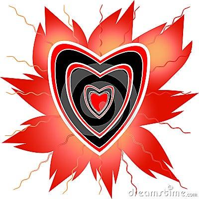 杨梅模式模板火火焰照片空白红色纹身花刺通知重点