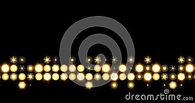 金黄LED线提高光的背景 股票视频