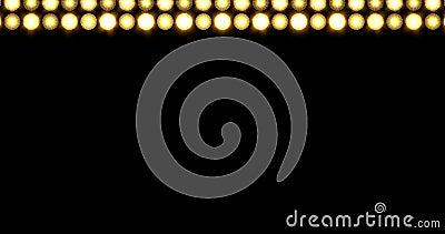 金黄LED重线点燃向上移动的背景 股票录像