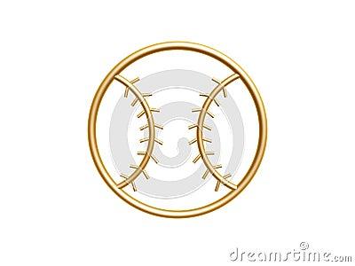 金黄棒球标志