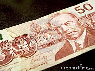 钞票加拿大元五十