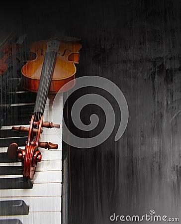 钢琴小提琴图片