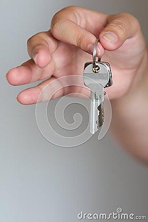 钥匙在手上