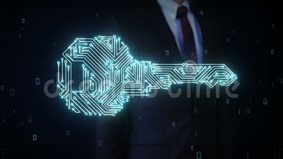 钥匙,电路板灯光管制线,安全,发现解答,安全技术商人感人的形状  股票录像