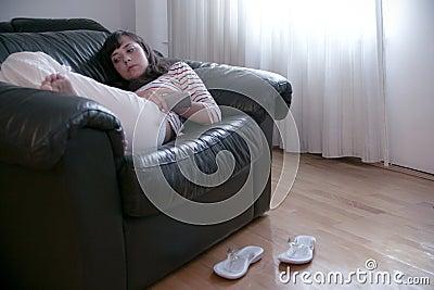 长沙发休息
