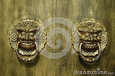 门道入口龙狮子