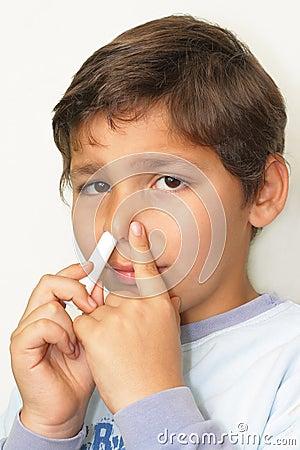 闷吸入器的鼻子