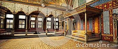 闺房在Topkapi宫殿,伊斯坦布尔,土耳其