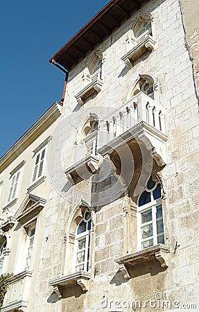 阳台克罗地亚房子老城镇