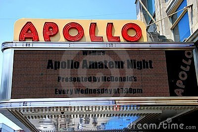 阿波罗大门罩nyc剧院 编辑类库存图片